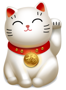 """Lucky cat clipart freeuse Maneki Neko, the """"Lucky Cat"""" of Japan - Pets Cute and Docile freeuse"""