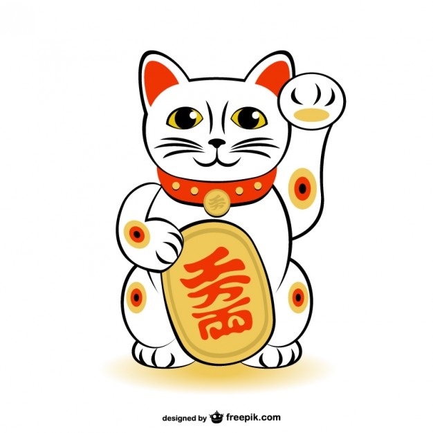 Lucky cat clipart clip art black and white library Lucky cat clipart - ClipartFest clip art black and white library