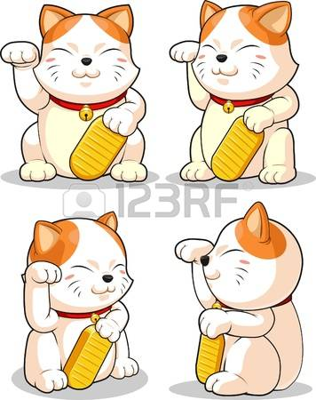 Lucky cat clipart clipart freeuse stock 1,445 Lucky Cat Cliparts, Stock Vector And Royalty Free Lucky Cat ... clipart freeuse stock