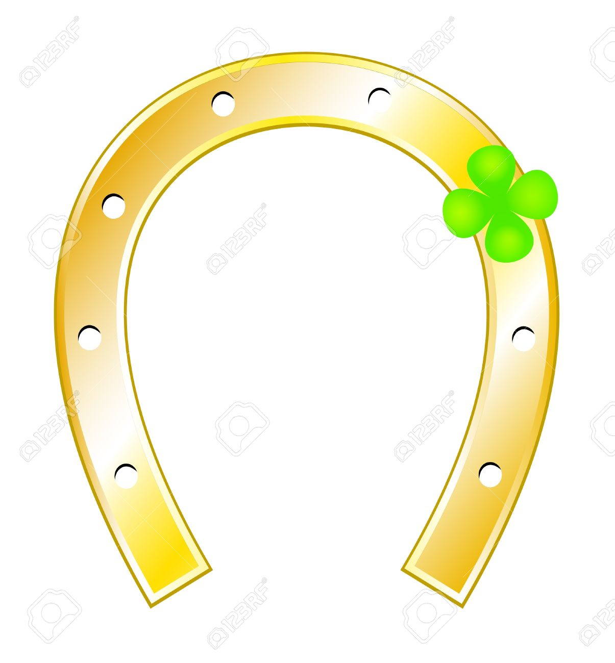 Lucky charm clip art clipart royalty free stock Lucky Charms - Horseshoes And Clover With Four Leaf Royalty Free ... clipart royalty free stock