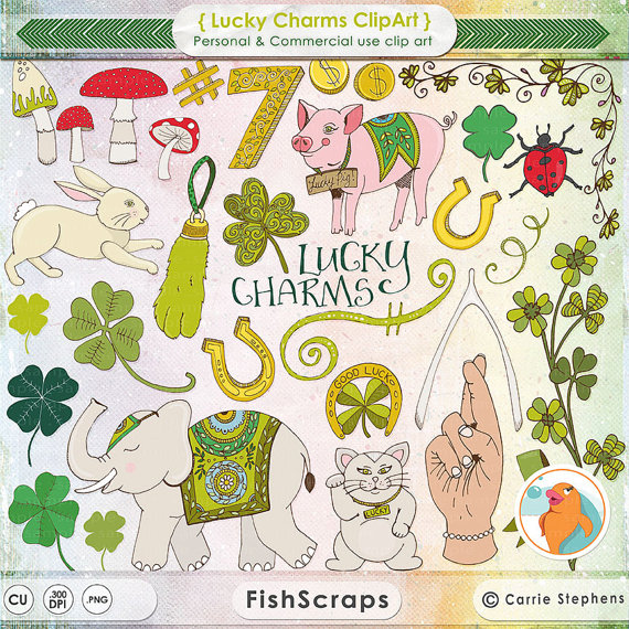 Lucky charms clip art graphic black and white library Irish Lucky Charm Clipart St Patrick S Day Clip Art Good Luck ... graphic black and white library