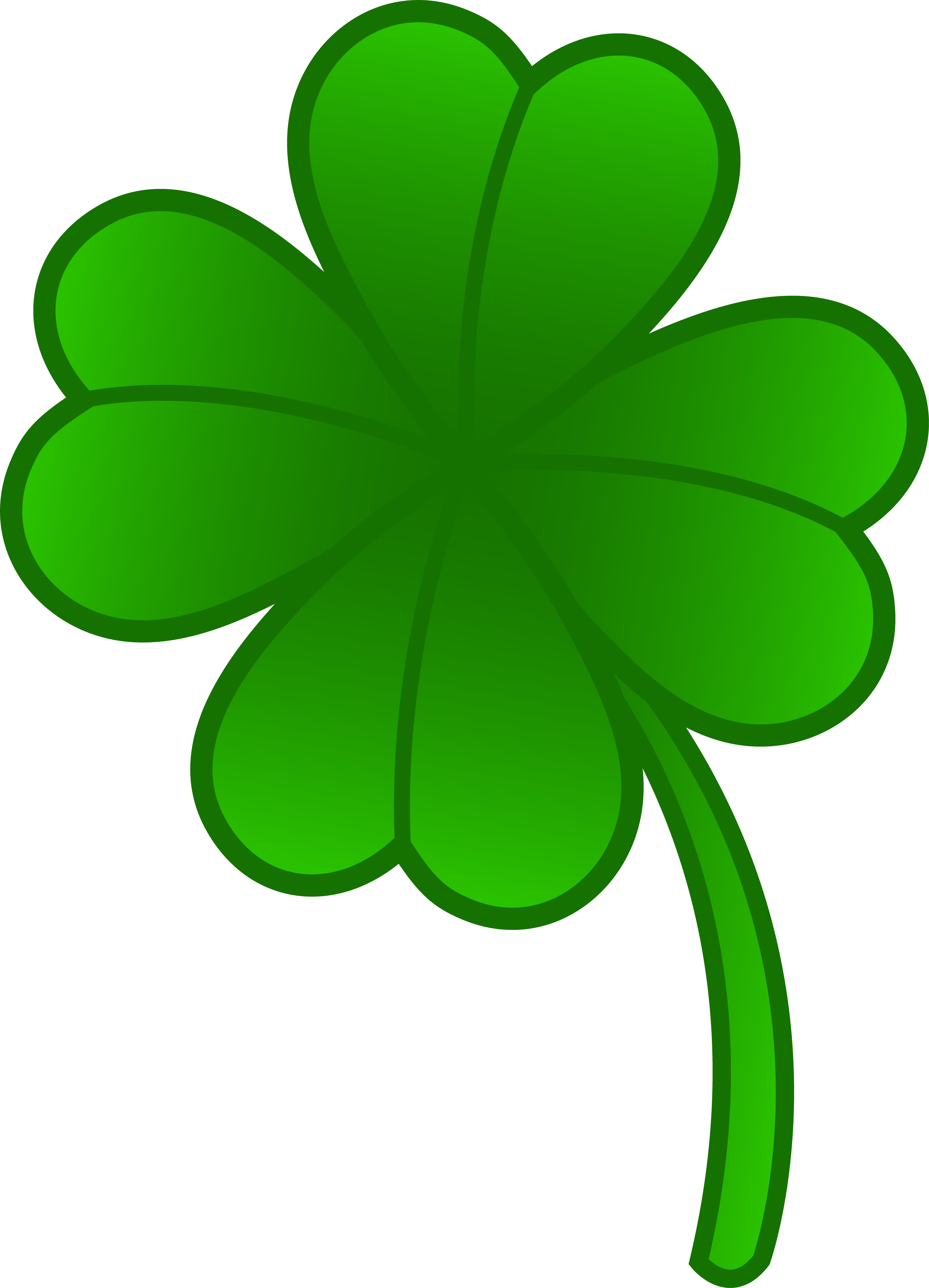 Crown leaf clover clipart vector library stock Lucky clover clipart - ClipartFest vector library stock