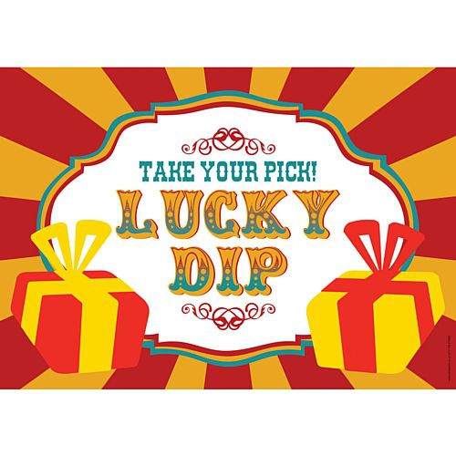 Lucky dip clip art vector black and white Fundraising Lucky Dip Sign - A3 - Party Packs vector black and white
