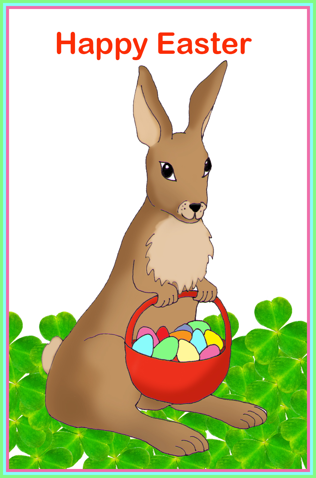 Lucky easter bunny clipart download Free Easter Cards | Free Printable Greeting Cards download