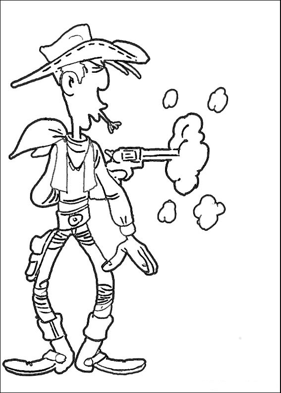 Lucky luke clipart clipart royalty free Kids-n-fun.com | 64 coloring pages of Lucky Luke clipart royalty free