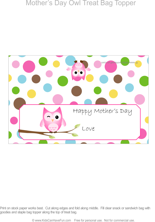 Lucky money bag clipart graphic black and white download Mother's Day Owl Treat Bag Topper | Bag Toppers | Pinterest | Owl ... graphic black and white download