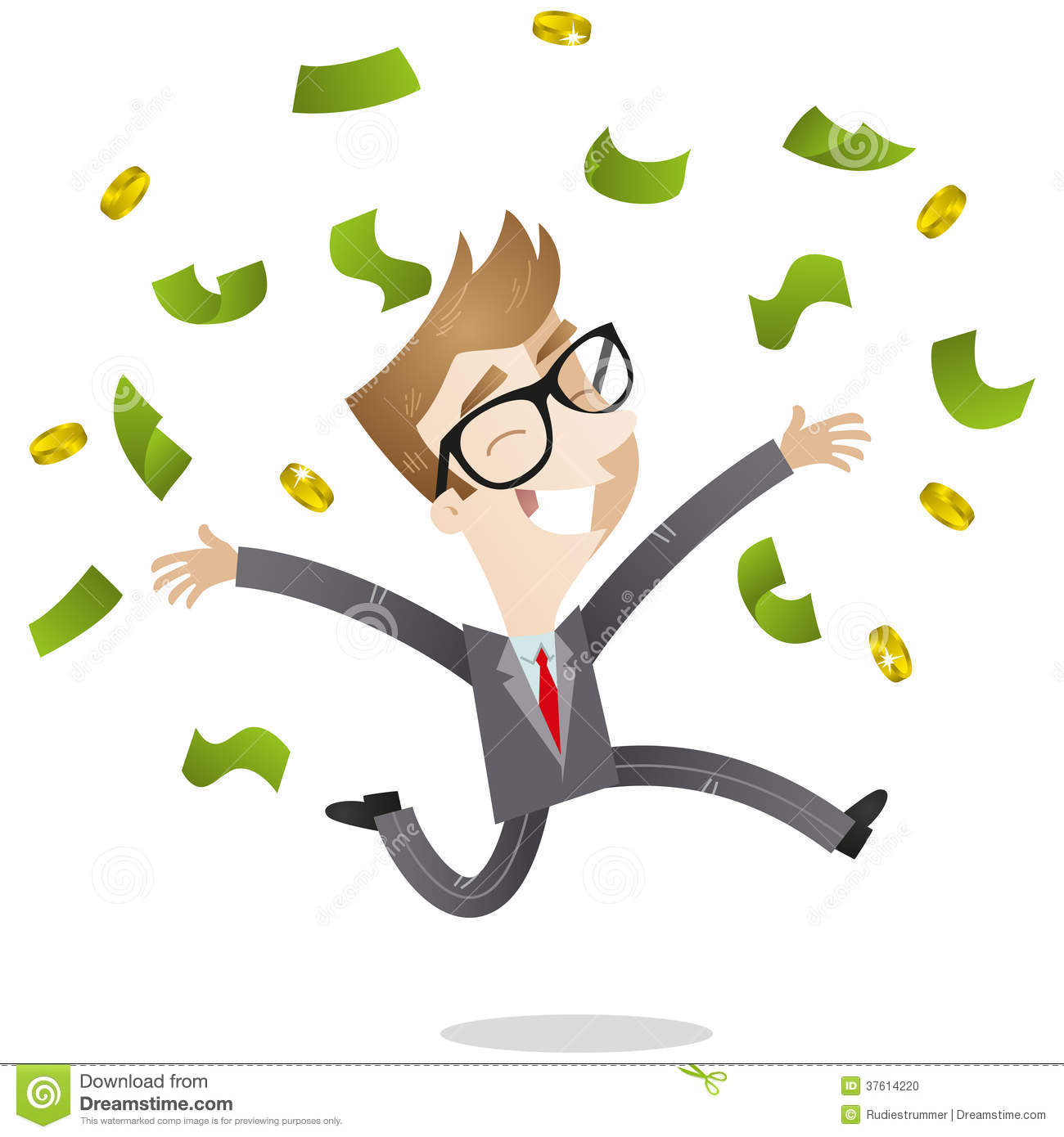 Lucky person clipart graphic transparent Lucky Businessman Throwing Bank Notes Up Stock Photo - Image: 37614220 graphic transparent