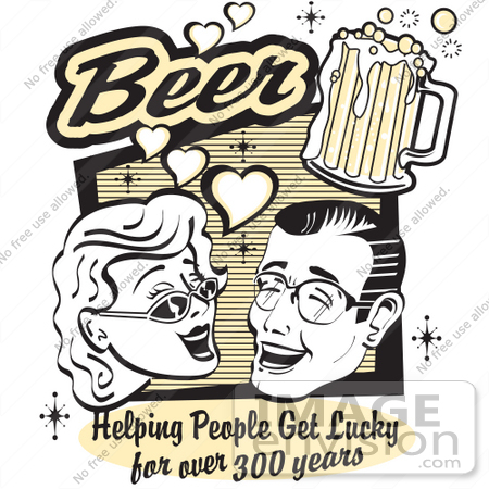 Lucky person clipart clip free library Royalty-free Cartoon Clip Art of a Woman and Man With Beer, Beer ... clip free library