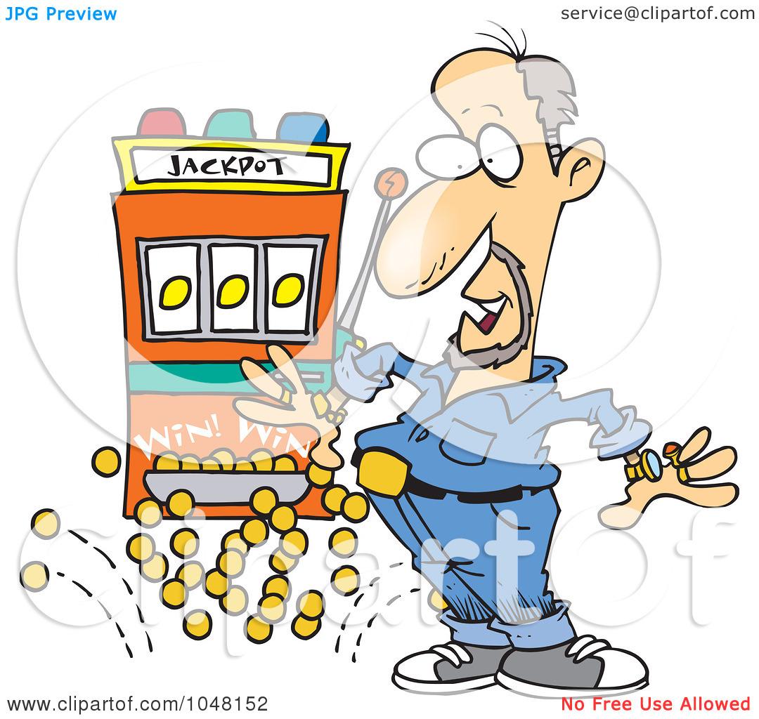 Lucky person clipart clip art library Royalty-Free (RF) Clip Art Illustration of a Cartoon Man Winning A ... clip art library