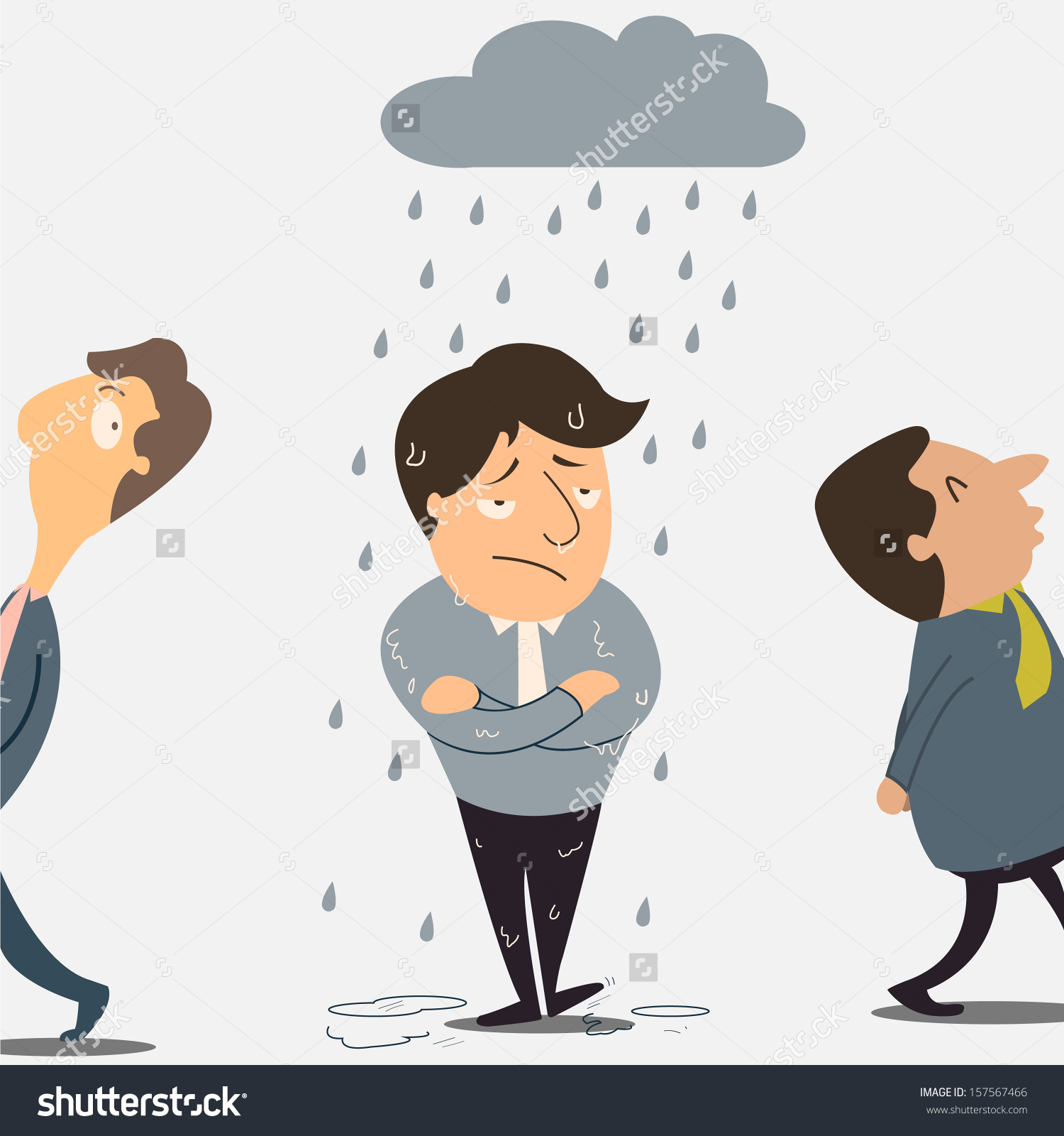 Lucky person clipart clip art transparent library Why Bad Luck Happening Only On Stock Vector 157567466 - Shutterstock clip art transparent library