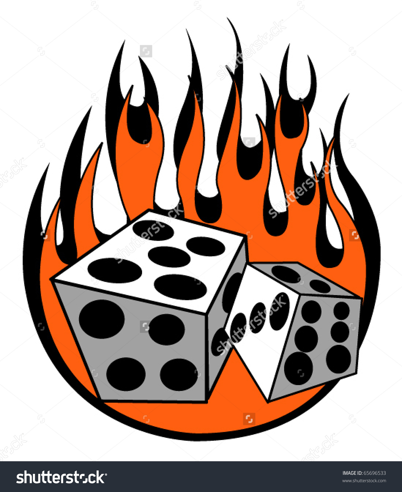 Lucky seven clipart clip art transparent download Lucky Seven Las Vegas Gambling Dice Being Rolled With Flames ... clip art transparent download