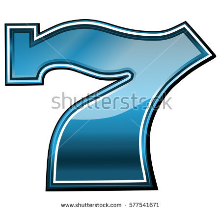 Lucky seven clipart png stock Lucky Seven Slot Machine Font Vector Stock Vector 31529701 ... png stock