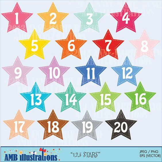 Lucky star clipart clipart free download Stars and numbers clipart, numbers clipart, commercial use, vector ... clipart free download