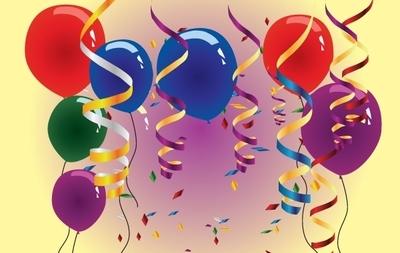 Luftballons und luftschlangen clipart clip black and white download Luftschlangen-Clip-Art, Vektor Luftschlangen - 23 Grafiken ... clip black and white download