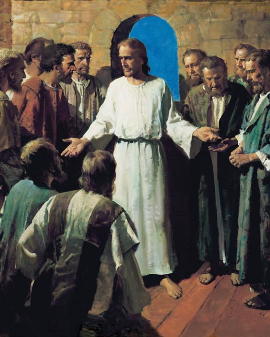 Luke 24 36-49 clipart clip art library library Luke 24:36-49 - Jesus Appears to His Disciples - \