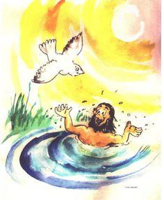 Luke 3 15-17 21-22 black & white clipart svg stock 40 Best Jesus\' Baptism (Matthew 3:13-17 & Luke 3:1-22) images in ... svg stock