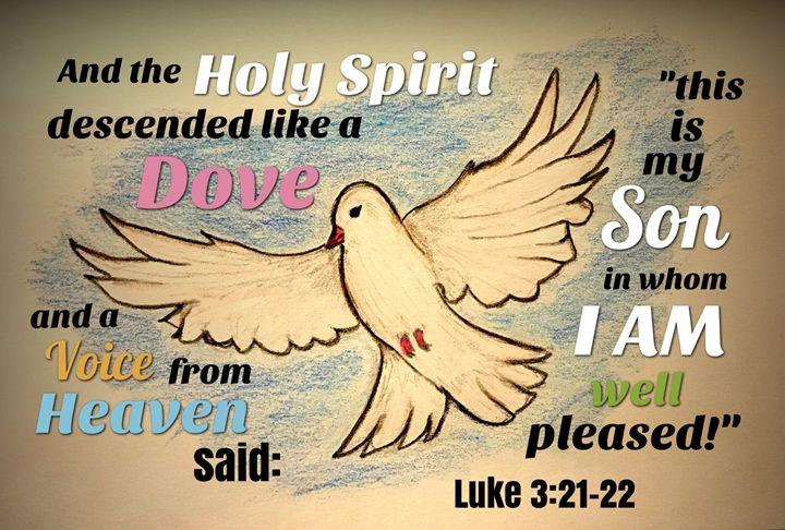 Luke 3 15-17 21-22 black & white clipart svg library stock Descended like a Dove - The Humble Ant - Drawings & Illustration ... svg library stock
