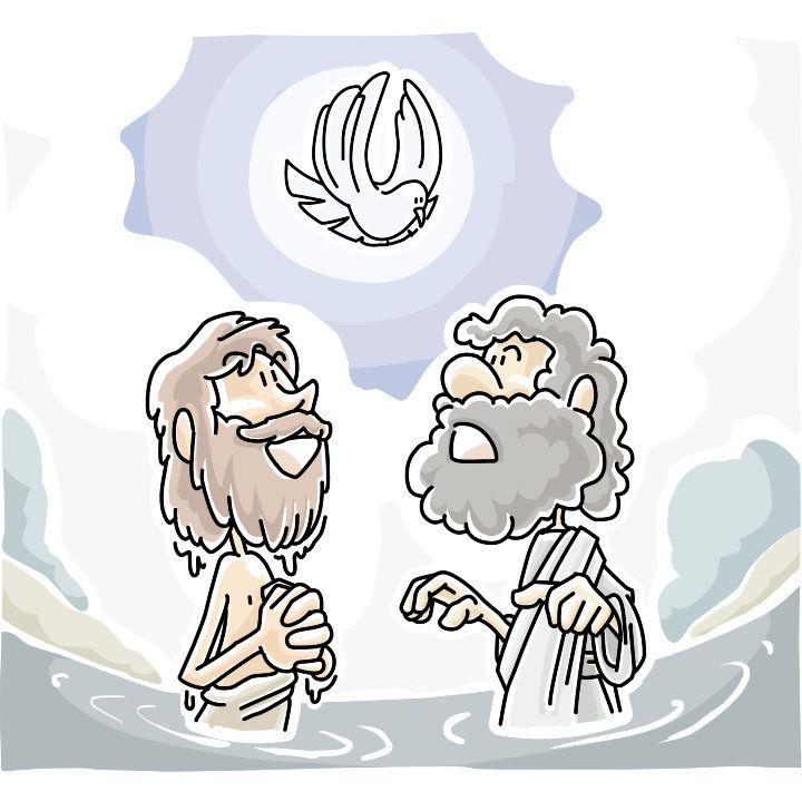 Luke 3 15-17 21-22 black & white clipart jpg library stock Two Kinds of Baptism\