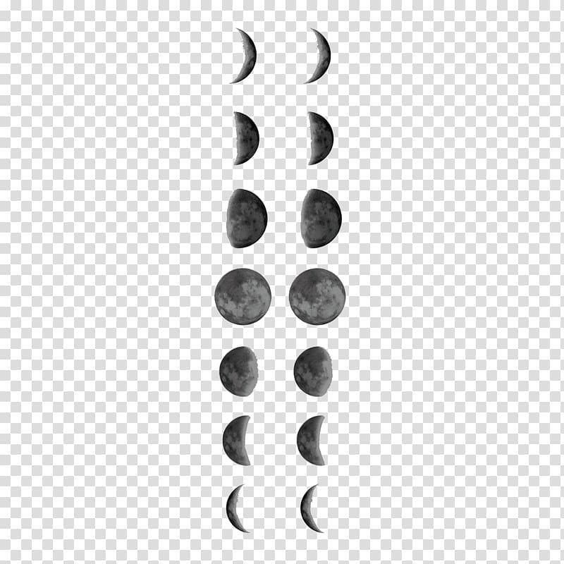 Lunar calendar clipart jpg black and white download Lunar phase Tattoo Full moon Lunar calendar, moon transparent ... jpg black and white download