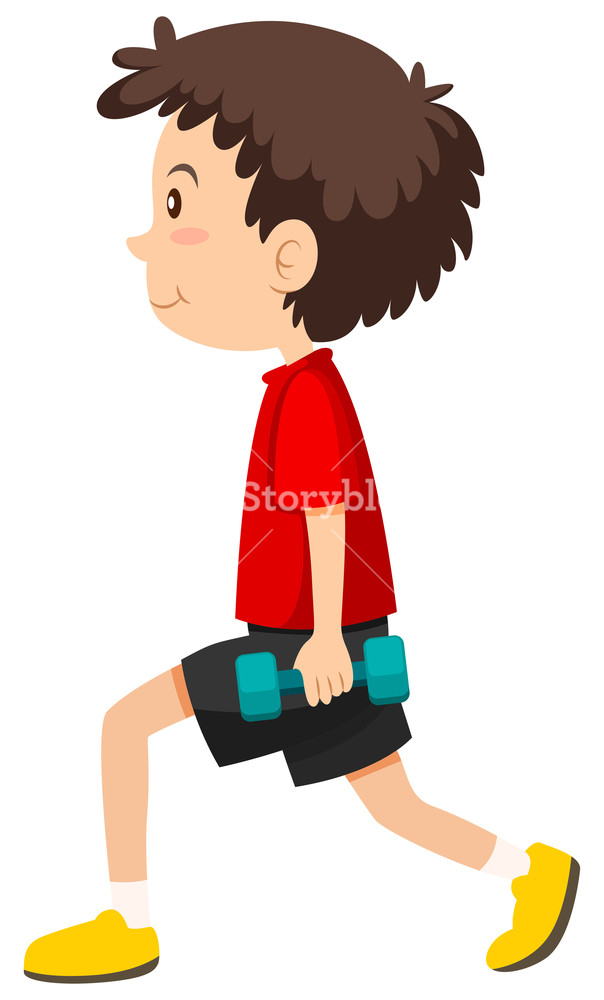 Lunge clipart svg library Boy doing weighted lunges Royalty-Free Stock Image - Storyblocks Images svg library