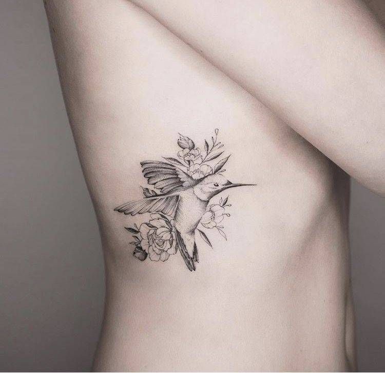 Ly tattoo clipart png library Hummingbird flowers tattoo @seventh day studio Auckland by Tritons ... png library