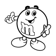 M and ms clipart black and white picture free stock 61 Best M&MS images in 2019 | M&m characters, M m candy, Favorite candy picture free stock