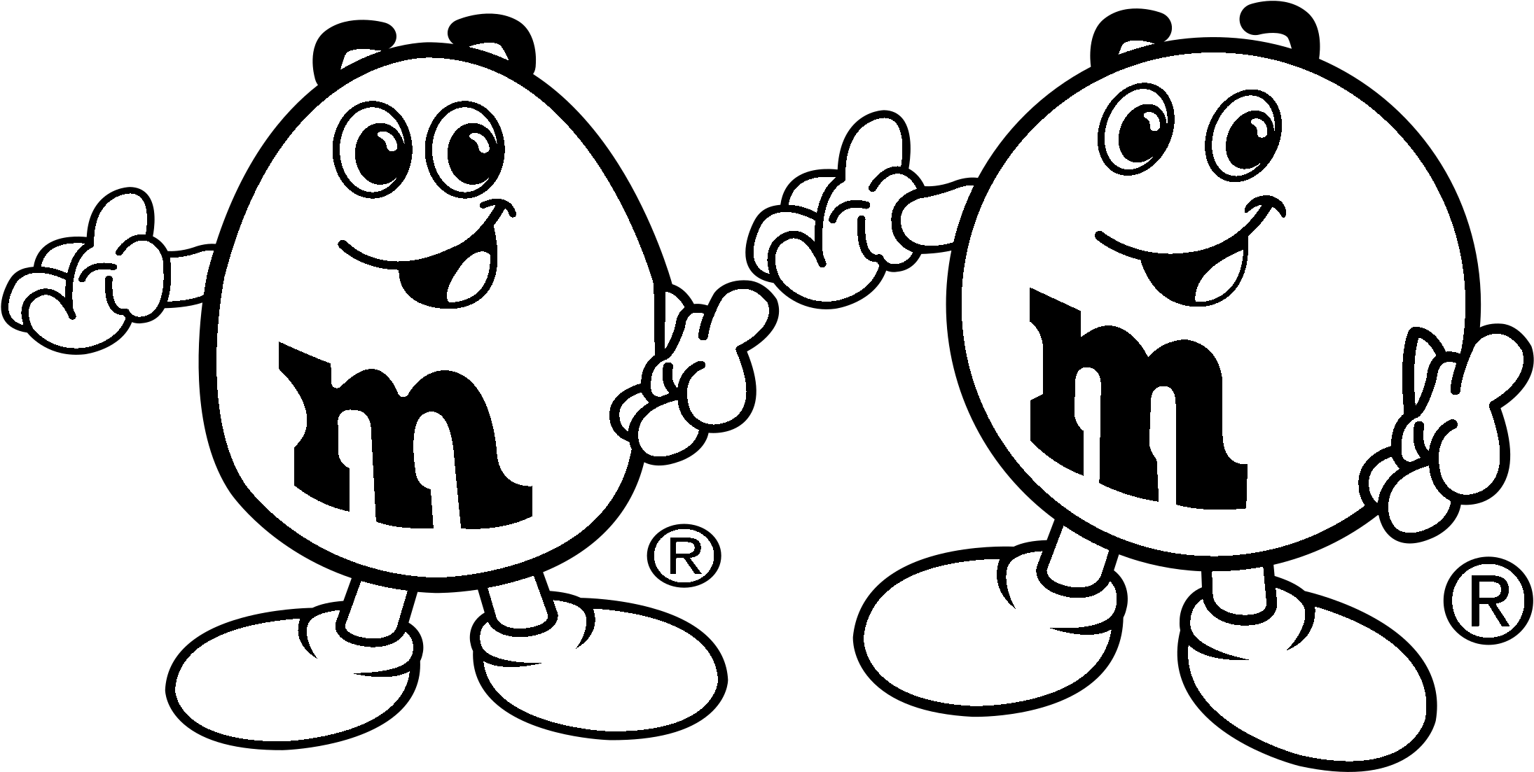 M and ms clipart black and white picture black and white stock M&m\'s Logo Black And White - M&m Black And White Clipart ... picture black and white stock
