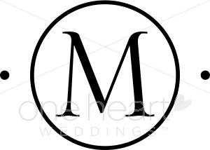M monogram clipart