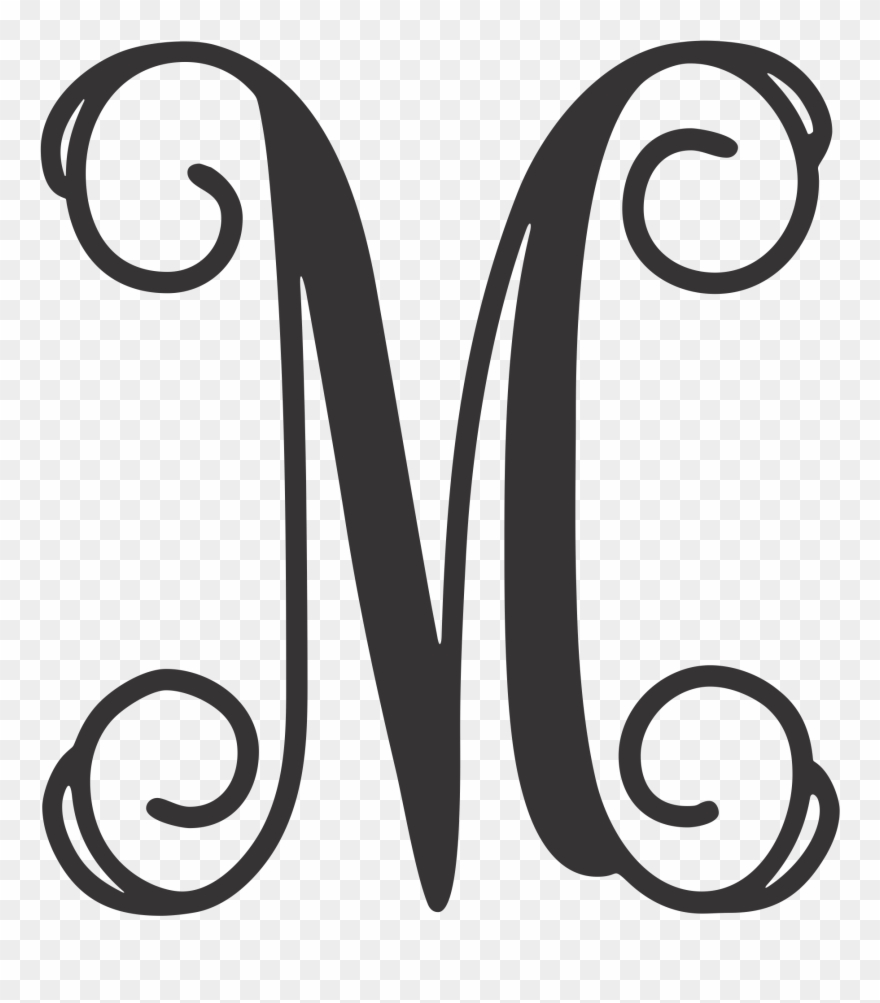 Vinyl m monogram initial clipart clipart royalty free stock Monogram Letters Metal Laser Cut 14 Gauge - Monogram Letter M ... clipart royalty free stock