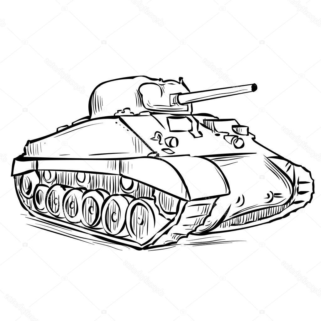 M4 sherman clipart