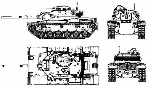 M60 patton tank clipart black and white download Blueprints > Tanks > Tanks M > M60 Patton black and white download