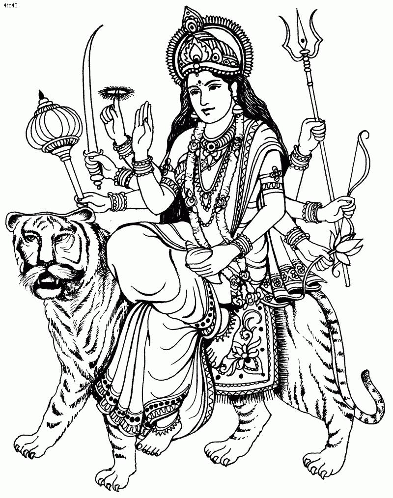 Maa durga clipart svg transparent Sketches Of Durga Maa Durga Clipart | Free Download Clip Art | Free ... svg transparent