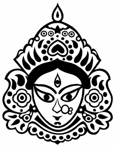 Maa kali face clipart image black and white Result for maa kali face png | fourjay.org image black and white