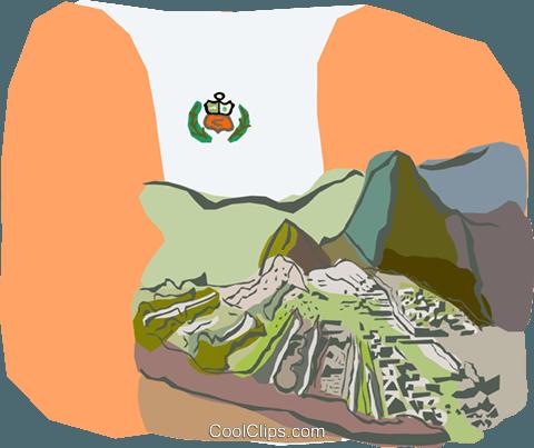 Machu picchu clipart banner free stock The ruins of Machu Picchu Peru Royalty Free Vector Clip Art ... banner free stock