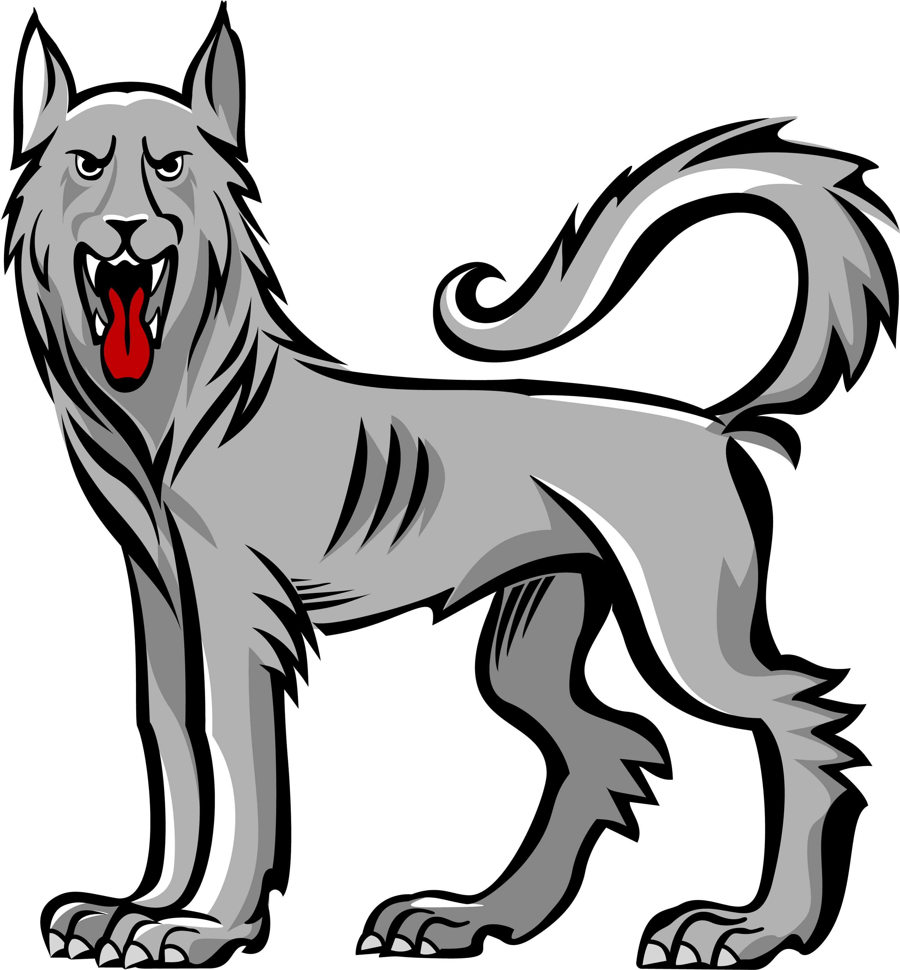 Mack dog clipart clipart free download Wolf statant guardant | Inspiration | Pinterest | Wolf clipart free download