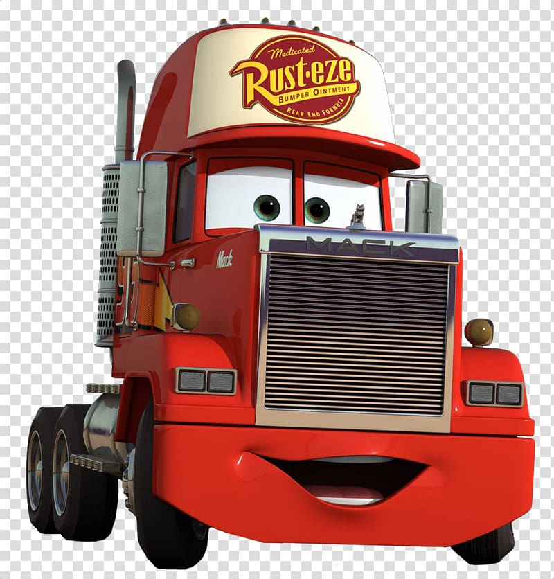 Mack truck clipart vector transparent stock Rust-Eze from Cars, Lightning McQueen Mater Mack Trucks Car ... vector transparent stock