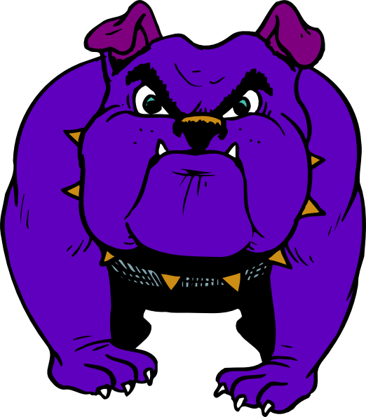 Mad dog clipart small royalty free stock Purple Bulldog Clip Art at Clker.com - vector clip art online ... royalty free stock