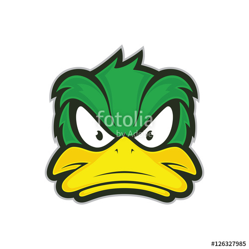 Mad duck logo clipart black and white png clip art transparent stock Angry duck mascot\
