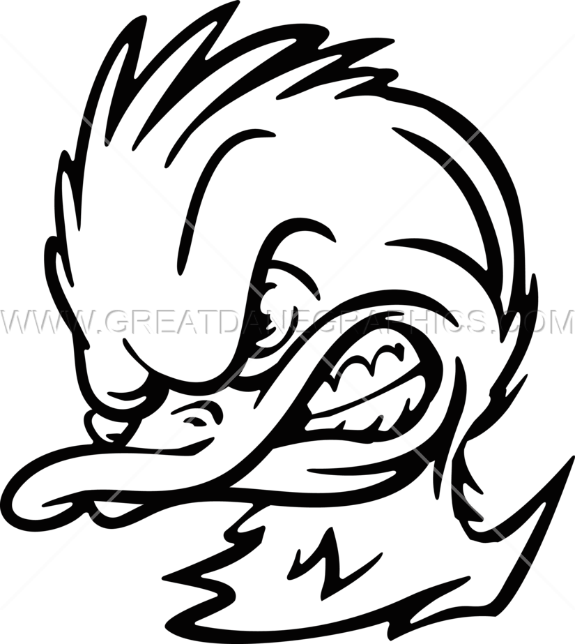 Mad duck logo clipart black and white png graphic freeuse library Angry Duck Clipart graphic freeuse library
