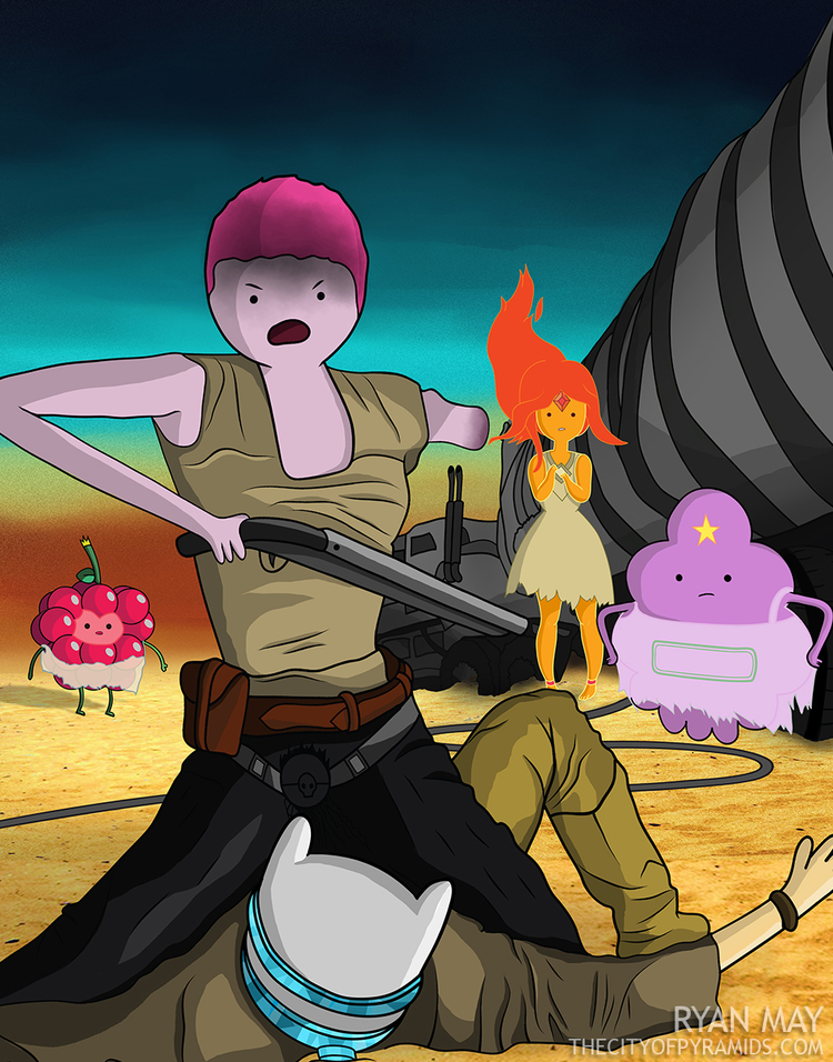 Mad max game clipart picture library stock Radical MAD MAX: FURY ROAD and ADVENTURE TIME Mashup Art — GeekTyrant picture library stock
