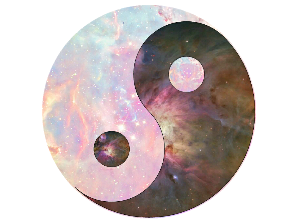 Sun and moon clipart no background jpg free download Galaxy yinyang clipart with transparent background mad... jpg free download