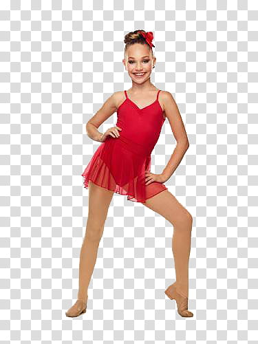 Maddie clipart image black and white stock Maddie Ziegler, girl\'s red one-piece swimsuit transparent ... image black and white stock