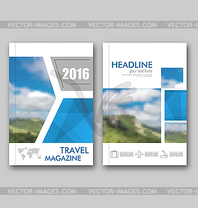 Magazine cover design clipart image transparent download Brochure Template of Travel Magazine, Cover Design - vector ... image transparent download