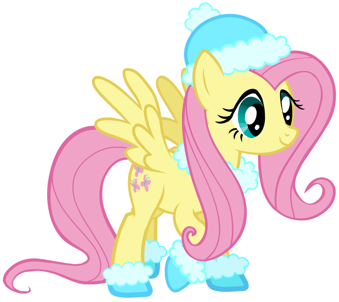 192701 - boots, christmas, clothes, fluttershy, hat, hearth's ... png black and white stock