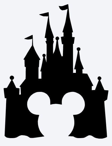 Magic kingdom castle outline clipart svg black and white download 17 Best ideas about Disney Castle Silhouette on Pinterest | Disney ... svg black and white download