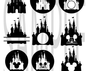 Magic kingdom castle outline clipart graphic free download Magic kingdom castle | Etsy graphic free download