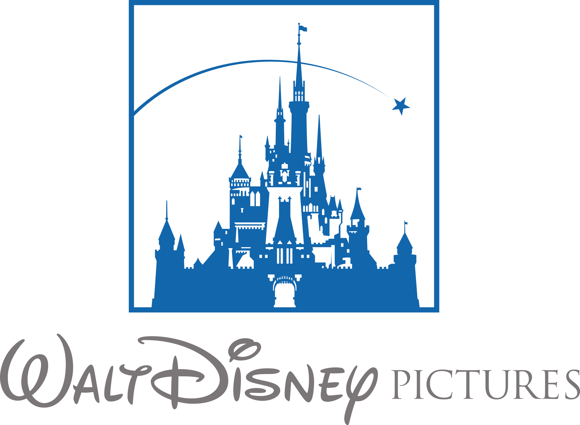 Disney star clipart. Castle logo kid panda