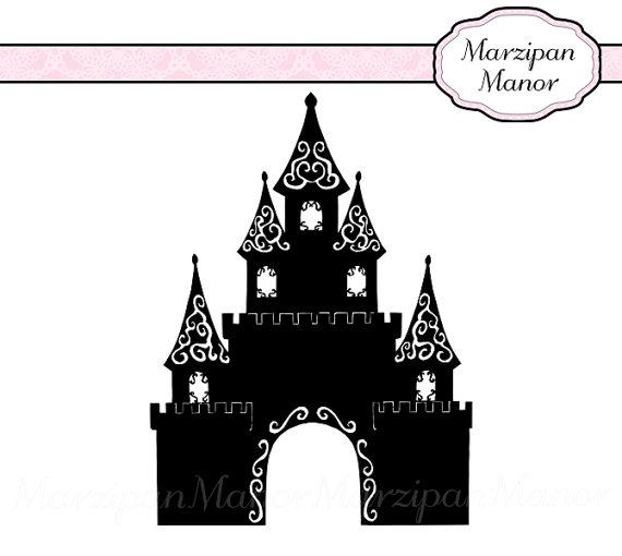 Magic kingdom castle outline clipart image download Magic Kingdom Silhouette Clipart - Clipart Kid image download