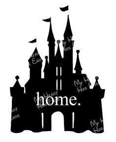 Magic kingdom clipart svg free Home Magic Kingdom Cinderella Castle for dark INSTANT DOWNLOAD ... svg free