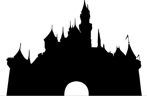 Magic kingdom clipart clipart stock Cinderella Castle Silhouette magic kingdom silhouette clipart ... clipart stock